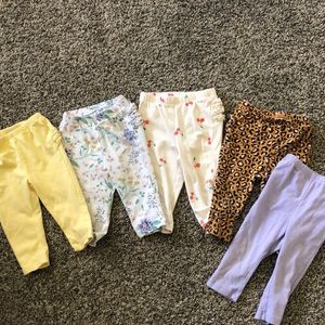 6-12 month baby girl Old Navy pant lot